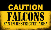 Caution Falcons Fan Area Wholesale Magnet M-2535