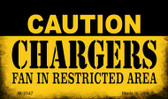 Caution Chargers Fan Area Wholesale Magnet M-2547