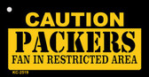 Caution Packers Fan Area Wholesale Key Chain