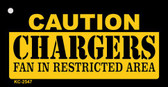 Caution Chargers Fan Area Wholesale Key Chain