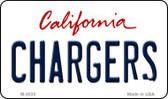 Chargers California State License Plate Wholesale Magnet M-2035