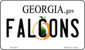 Falcons Georgia State License Plate Wholesale Magnet M-2041
