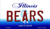 Bears Illinois State License Plate Wholesale Magnet M-2042