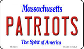 Patriots Massachusetts State License Plate Wholesale Magnet M-2046
