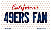 49ers Fan California State License Plate Wholesale Magnet M-10754