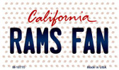 Rams Fan California State License Plate Wholesale Magnet M-10770