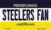 Steelers Fan Pennsylvania State License Plate Wholesale Magnet M-10778