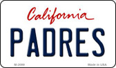 Padres California State License Plate Wholesale Magnet M-2099