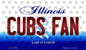 Cubs Fan Illinois State License Plate Wholesale Magnet M-10791