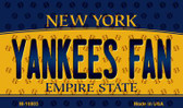 Yankees Fan New York State License Plate Wholesale Magnet M-10803