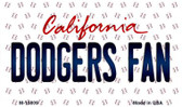 Dodgers Fan California State License Plate Wholesale Magnet M-10809