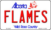Flames Alberta State License Plate Wholesale Magnet M-2065