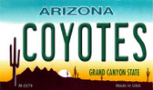 Coyotes Arizona State License Plate Wholesale Magnet M-2279
