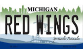 Red Wings Michigan State License Plate Wholesale Magnet M-2291