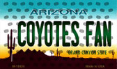 Coyotes Fan Arizona State License Plate Wholesale Magnet M-10824