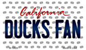 Ducks Fan California State License Plate Wholesale Magnet M-10826