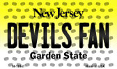 Devils Fan New Jersey State License Plate Wholesale Magnet M-10847
