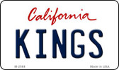 Kings California State License Plate Wholesale Magnet M-2588