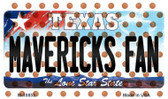 Mavericks Fan Texas State License Plate Wholesale Magnet M-10853