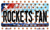 Rockets Fan Texas State License Plate Wholesale Magnet M-10857