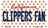 Clippers Fan California State License Plate Wholesale Magnet M-10859