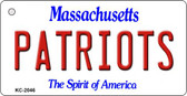 Patriots Massachusetts State License Plate Wholesale Key Chain KC-2046