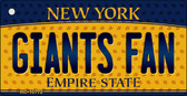 Giants Fan New York State License Plate Wholesale Key Chain KC-10772