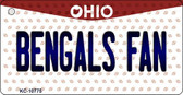 Bengals Fan Ohio State License Plate Wholesale Key Chain KC-10775