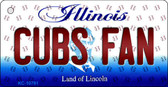 Cubs Fan Illinois State License Plate Wholesale Key Chain KC-10791
