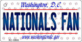 Nationals Fan Washington DC State License Plate Wholesale Key Chain KC-10805