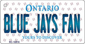 Blue Jays Fan Ontario State License Plate Wholesale Key Chain KC-10815