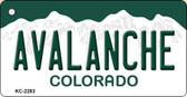 Avalanche Colorado State License Plate Wholesale Key Chain KC-2283