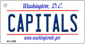 Capitals Washington DC State License Plate Wholesale Key Chain KC-2299