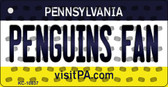 Penguins Fan Pennsylvania State License Plate Wholesale Key Chain KC-10837