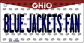 Blue Jackets Fan Ohio State License Plate Wholesale Key Chain KC-10839