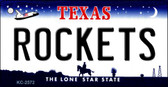 Rockets Texas State License Plate Wholesale Key Chain KC-2572