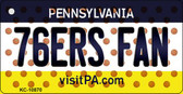 76ers Fan Pennsylvania State License Plate Wholesale Key Chain KC-10870