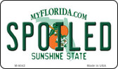 Spoiled Florida State License Plate Wholesale Magnet M-6042