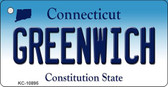 Greenwich Connecticut State License Plate Wholesale Key Chain KC-10895
