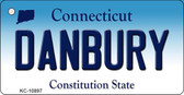 Danbury Connecticut State License Plate Wholesale Key Chain KC-10897