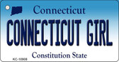 Connecticut Girl State License Plate Wholesale Key Chain KC-10908