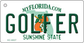 Golfer Florida State License Plate Wholesale Key Chain KC-6027