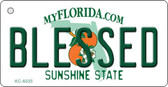Blessed Florida State License Plate Wholesale Key Chain KC-6035