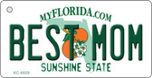 Best Mom Florida State License Plate Wholesale Key Chain KC-6659