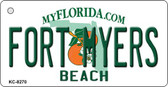 Fort Myers Beach Florida State License Plate Wholesale Key Chain KC-8270