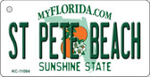 St Pete Beach Florida State License Plate Wholesale Key Chain KC-11084