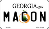 Macon Georgia State License Plate Novelty Wholesale Magnet M-6145