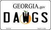 Dawgs Georgia State License Plate Novelty Wholesale Magnet M-6146