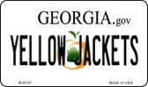 Yellow Jackets Georgia State License Plate Novelty Wholesale Magnet M-6147