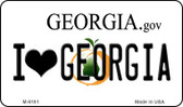 I Love Georgia State License Plate Novelty Wholesale Magnet M-6161